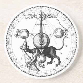 Qabalah Mandala Sandstone Coaster