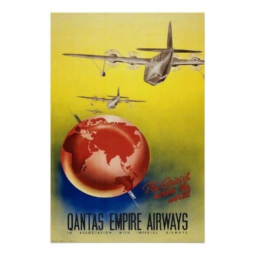 Qantas Empire Airways Poster