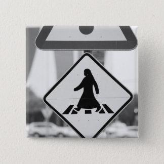 Qatar, Ad Dawhah, Doha. Arabian Pedestrian 15 Cm Square Badge