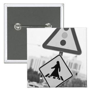 Qatar, Ad Dawhah, Doha. Arabian Pedestrian 2 15 Cm Square Badge