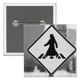 Qatar, Ad Dawhah, Doha. Arabian Pedestrian 3 15 Cm Square Badge