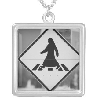 Qatar, Ad Dawhah, Doha. Arabian Pedestrian 3 Silver Plated Necklace