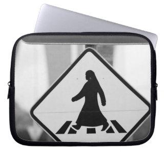 Qatar, Ad Dawhah, Doha. Arabian Pedestrian Laptop Sleeve