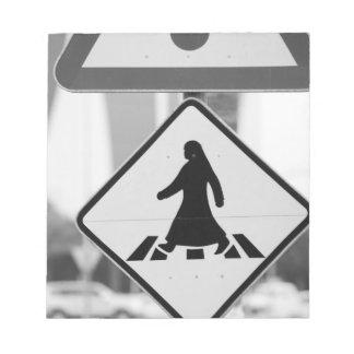 Qatar, Ad Dawhah, Doha. Arabian Pedestrian Notepads