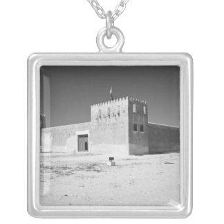 Qatar, Al Zubarah. Al-Zubara Fort (b.1938) now Silver Plated Necklace