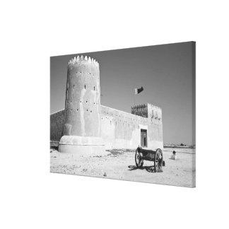 Qatar, Al Zubarah. Al-Zubarah Fort (b.1938) now Canvas Print