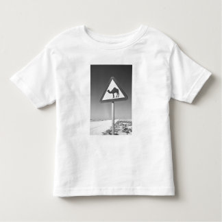Qatar, Al Zubarah. Camel Crossing Sign-Road to Toddler T-Shirt