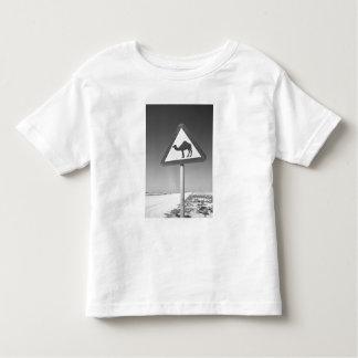 Qatar, Al Zubarah. Camel Crossing Sign-Road to Toddler T-Shirt