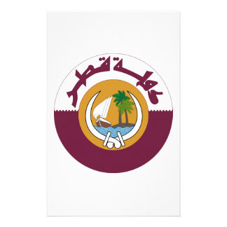 Qatar Coat of Arms Stationery Paper