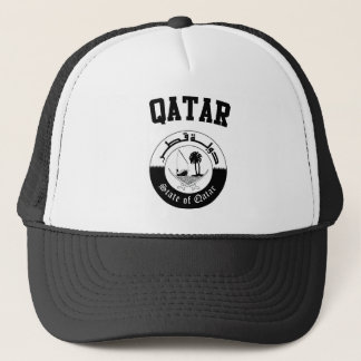 Qatar Coat of Arms Trucker Hat