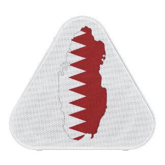 qatar country flag shape map symbol