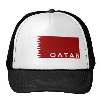 qatar country flag text name cap