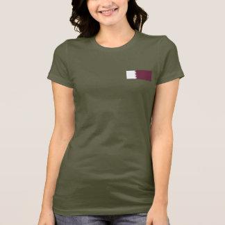 Qatar Flag and Map dk T-Shirt