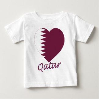 Qatar Flag Heart Baby T-Shirt