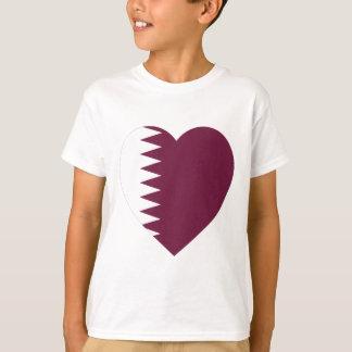 Qatar Flag Heart T-Shirt
