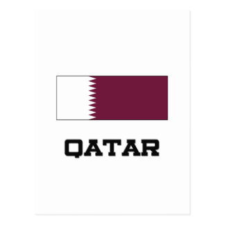 Qatar Flag Postcard