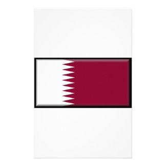 Qatar Flag Custom Stationery