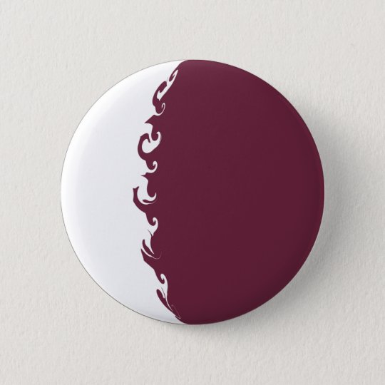 Qatar Gnarly Flag 6 Cm Round Badge