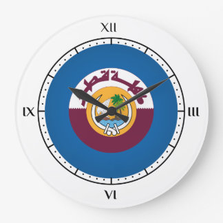 Qatari coat of arms large clock