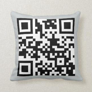 QC-code AWOL Throw Pillow
