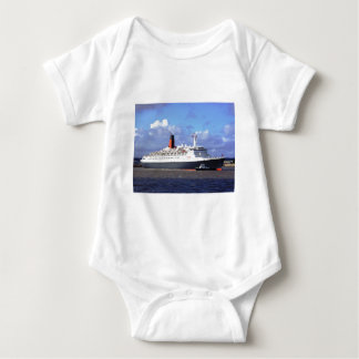 QE11 On the River Mersey, Liverpool UK Baby Bodysuit