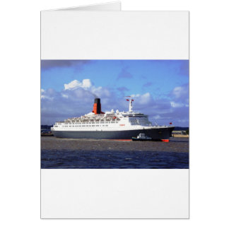 QE11 On the River Mersey, Liverpool UK Card