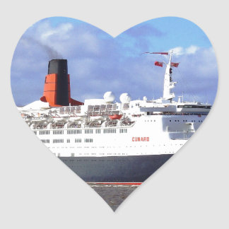 QE11 On the River Mersey, Liverpool UK Heart Sticker
