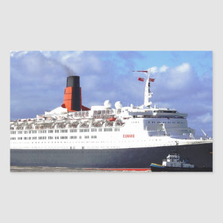 QE11 On the River Mersey, Liverpool UK Rectangular Sticker