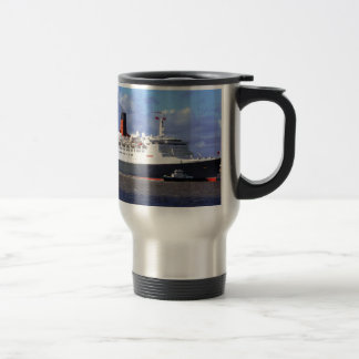 QE11 On the River Mersey, Liverpool UK Travel Mug