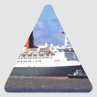 QE11 On the River Mersey, Liverpool UK Triangle Sticker