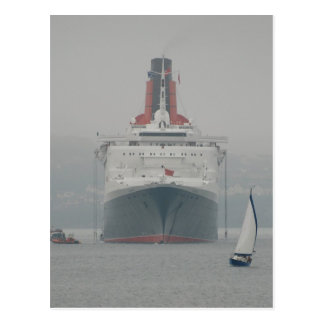 QE2 on the River Forth Postcard