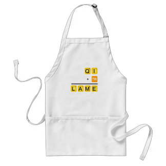 QI is LAME! Adult Apron