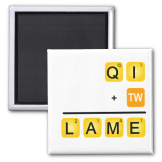 QI is LAME! Square Magnet