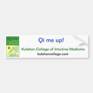 Qi me up! kulshan college sticker bumper sticker