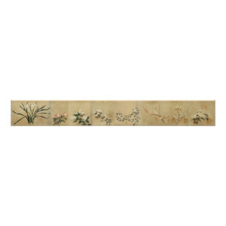 Qian Xuan Eight Flowers National Palace Museum Poster