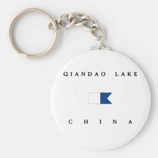 Qiandao Lake China Alpha Dive Flag Basic Round Button Key Ring