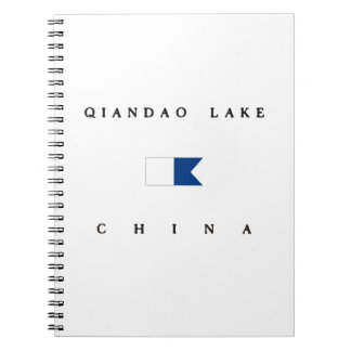 Qiandao Lake China Alpha Dive Flag Note Books