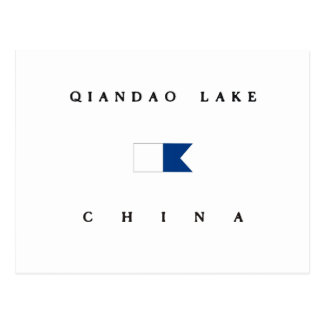 Qiandao Lake China Alpha Dive Flag Postcard