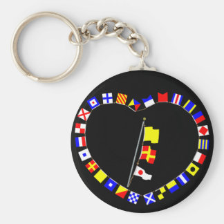 """QR1"" ""Request Permission to Lay Alongside"" Basic Round Button Key Ring"