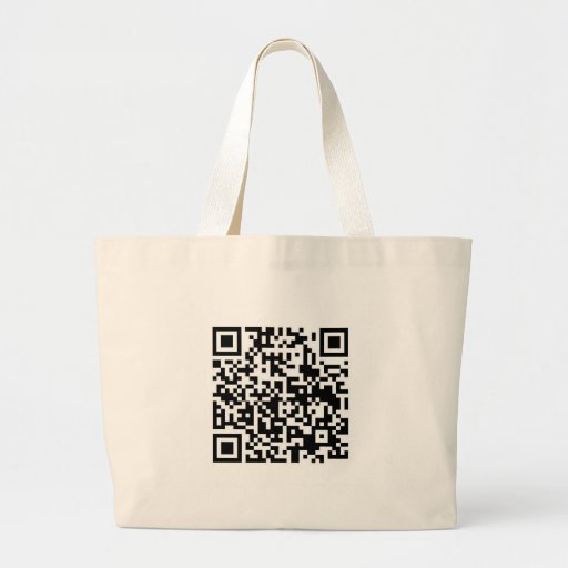 QR Barcode: Being scanned makes me happy.... Tote Bags