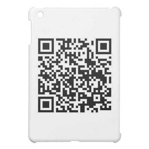 QR Barcode: Being scanned makes me happy.... iPad Mini Covers