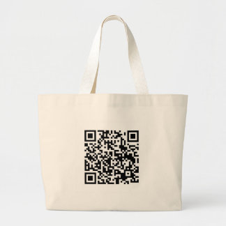 QR Barcode Being scanned makes me happy Tote Bags