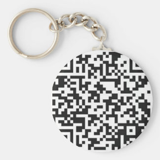 QR Barcode: Got the guts to scan me..... Basic Round Button Key Ring