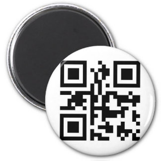 QR Barcode: Have a nice day! Magnet
