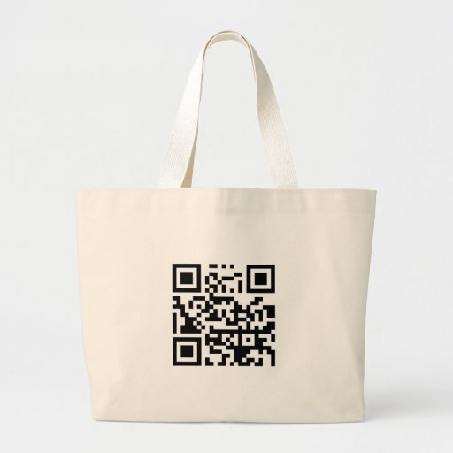 QR Barcode Make me happy with your smile! Bag