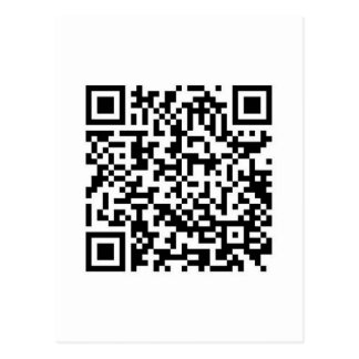 QR Barcode: Now you've scanned me.... Postcard