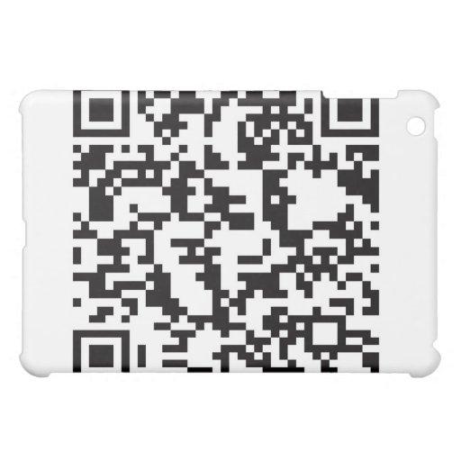 QR Barcode Scannable Square iPad Mini Case