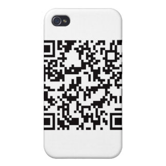 QR Barcode Scannable Square Case For iPhone 4