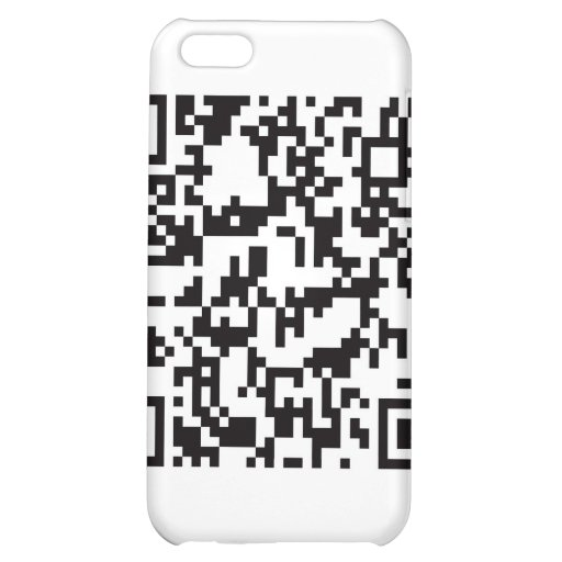 QR Barcode Scannable Square Case For iPhone 5C