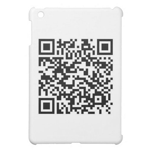 QR barcode: Thanks for scanning me... iPad Mini Cover